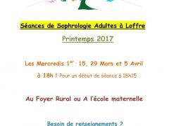 Séances de Sophrologie en groupe printemps 2017 Loffre
