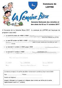 Proposition flyer semaine bleue 2017
