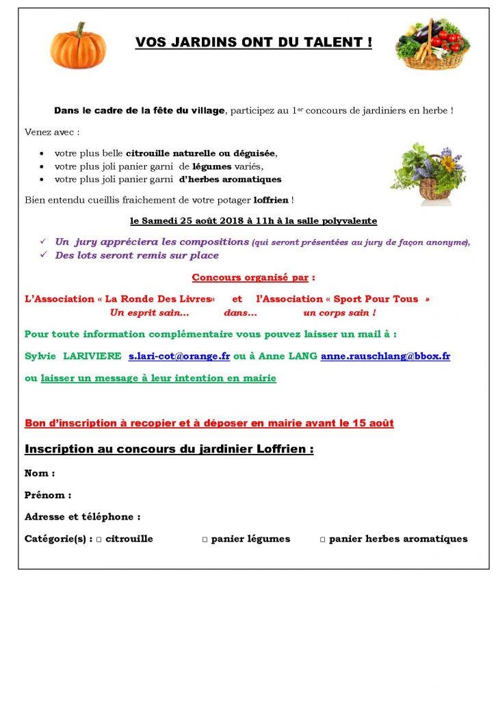 flyer concours jardin pour le bulletin municipal
